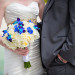 Elegant Blue Orchid and White Rose Bridal Bouquet at Grand Bay Club in Key Biscayne, FL thumbnail