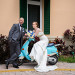 Fun Couple Portrait on Blue Moped at Grand Bay Club in Key Biscayne, FL thumbnail