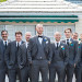 Handsome Groom and Groomsmen at Grand Bay Club in Key Biscayne, FL thumbnail