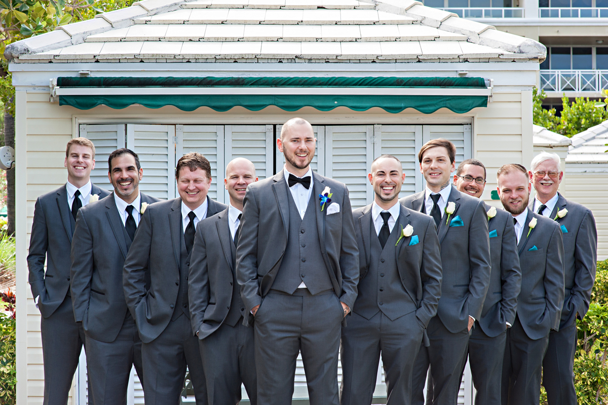 Handsome Groom and Groomsmen | The Majestic Vision Wedding Planning | Grand Bay Club in Key Biscayne, FL | www.themajesticvision.com | Emindee Images
