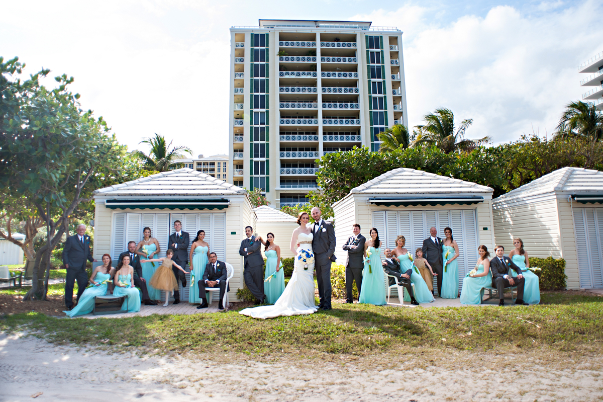 Elegant Wedding Party Portrait | The Majestic Vision Wedding Planning | Grand Bay Club in Key Biscayne, FL | www.themajesticvision.com | Emindee Images