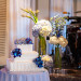Elegant Blue Orchid and Hydrangea Wedding Cake at Grand Bay Club in Key Biscayne, FL thumbnail