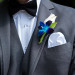 Elegant Blue Orchid and White Rose Groom Boutineer at Grand Bay Club in Key Biscayne, FL thumbnail