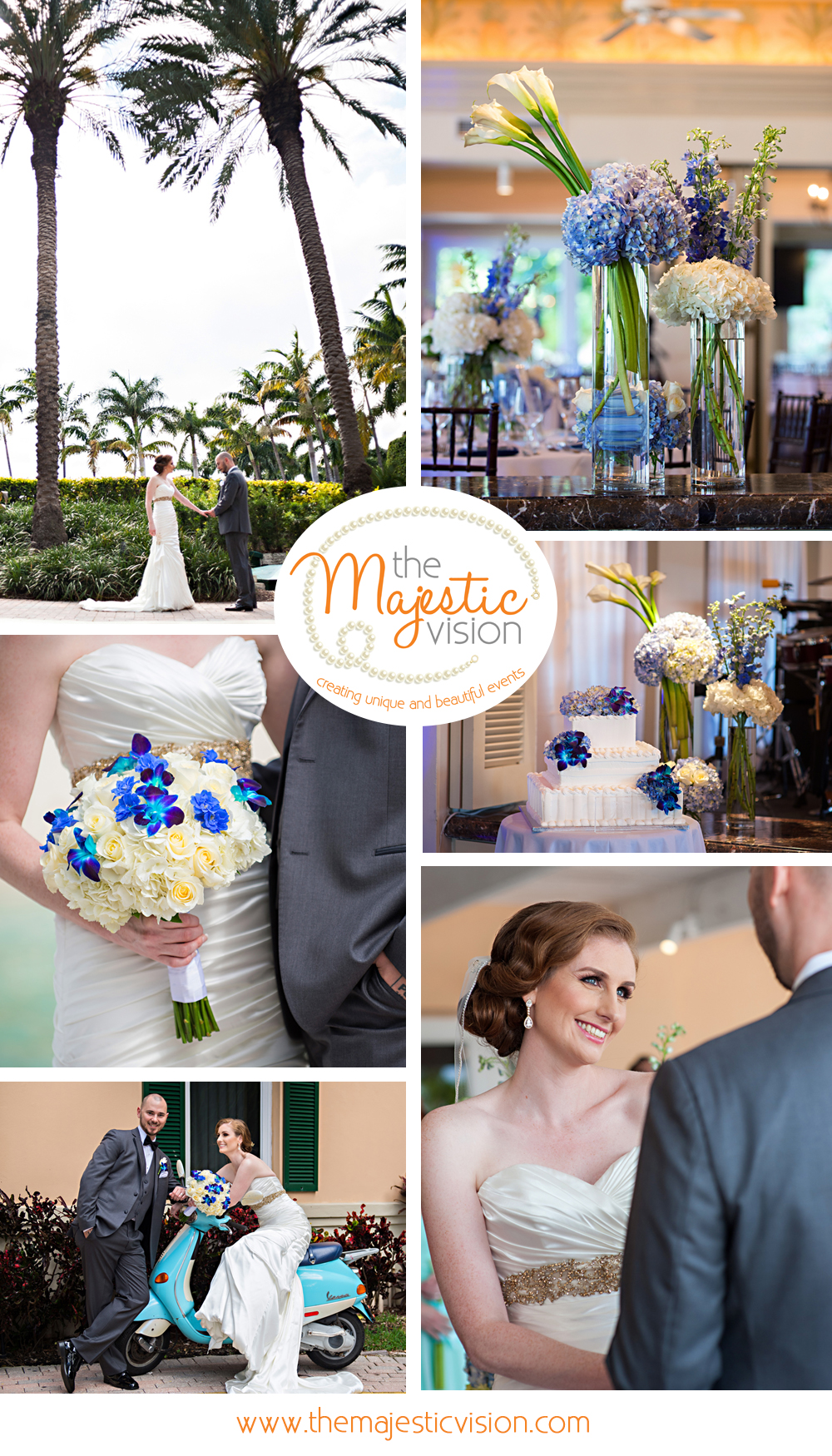 Elegant Blue and White Wedding | The Majestic Vision Wedding Planning | Grand Bay Club in Key Biscayne, FL | www.themajesticvision.com | Emindee Images
