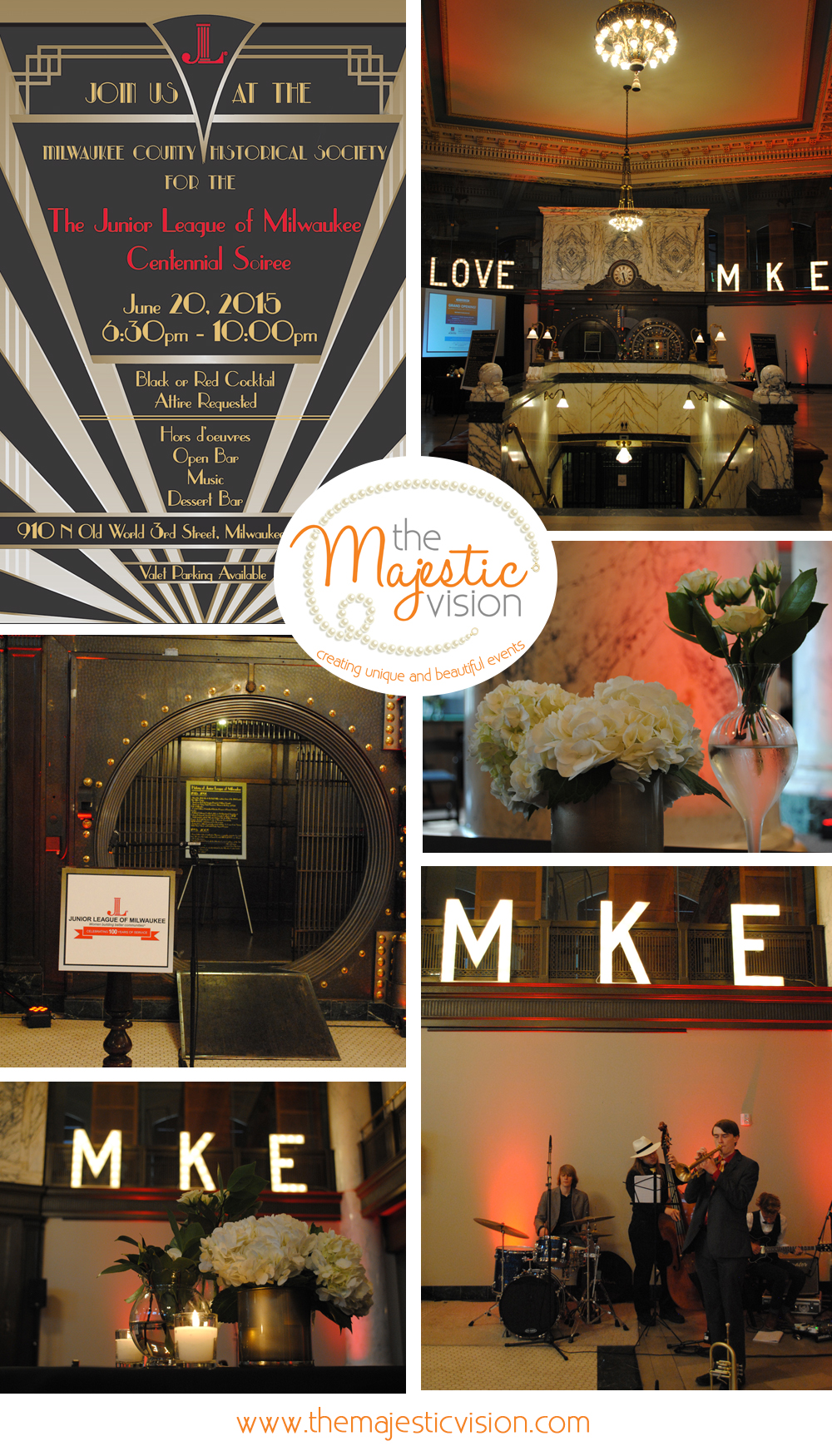 Junior League of Milwaukee Centennial Soiree | The Majestic Vision Wedding Planning | Milwaukee Historical Society in Milwaukee, WI | www.themajesticvision.com
