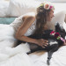 Romantic Bride with Dog Flower Girl at Iron Horse Hotel in Milwaukee, WI thumbnail