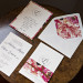 Romantic Floral and Leather Wedding Invitation Suite at Iron Horse Hotel in Milwaukee, WI thumbnail