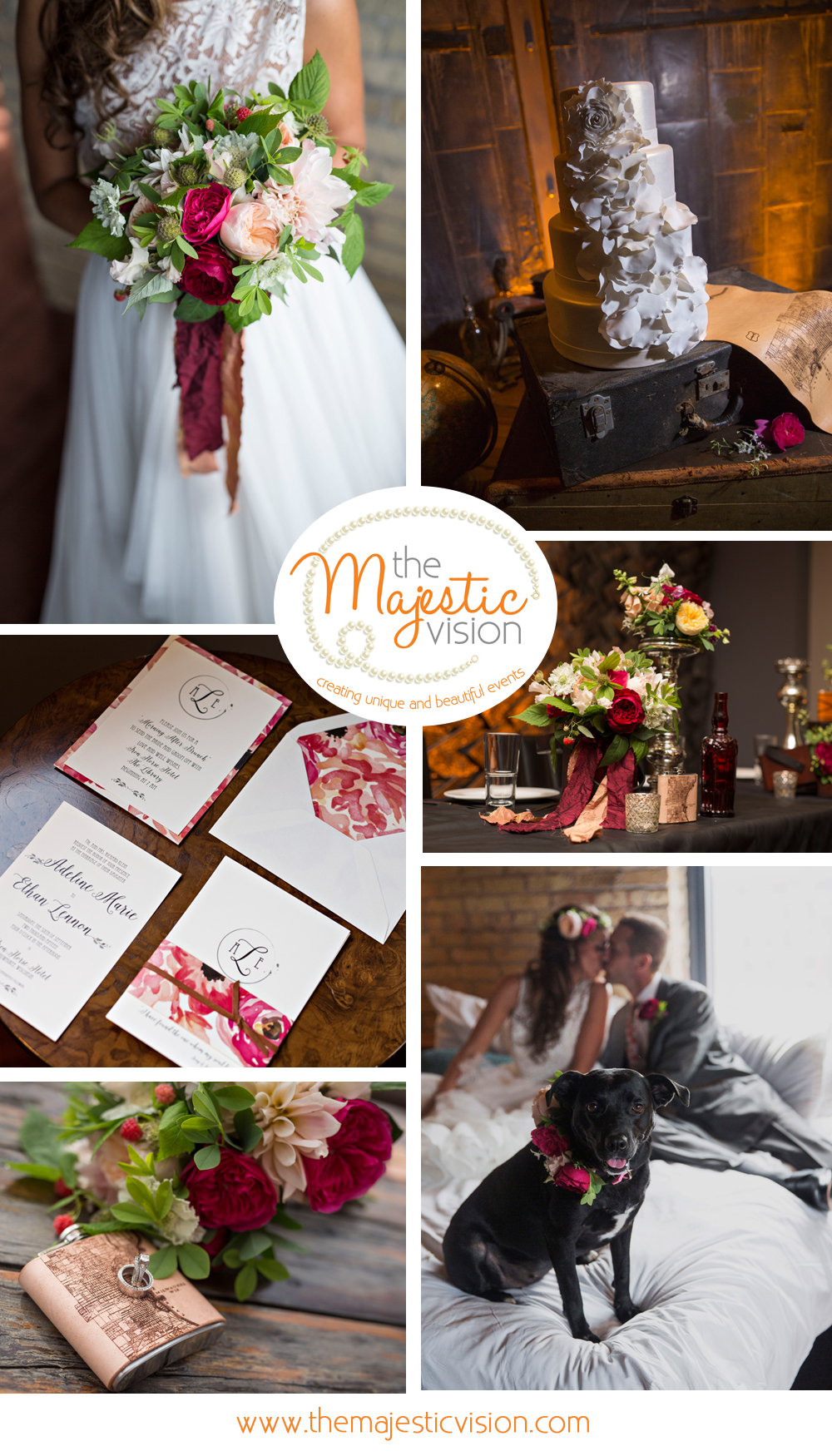 Romantic Floral Wedding | The Majestic Vision Wedding Planning | Iron Horse Hotel in Milwaukee, WI | www.themajesticvision.com | Shannon Wucherer Photography