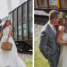 Romantic Couple Portrait with Train Car at Iron Horse Hotel in Milwaukee, WI thumbnail