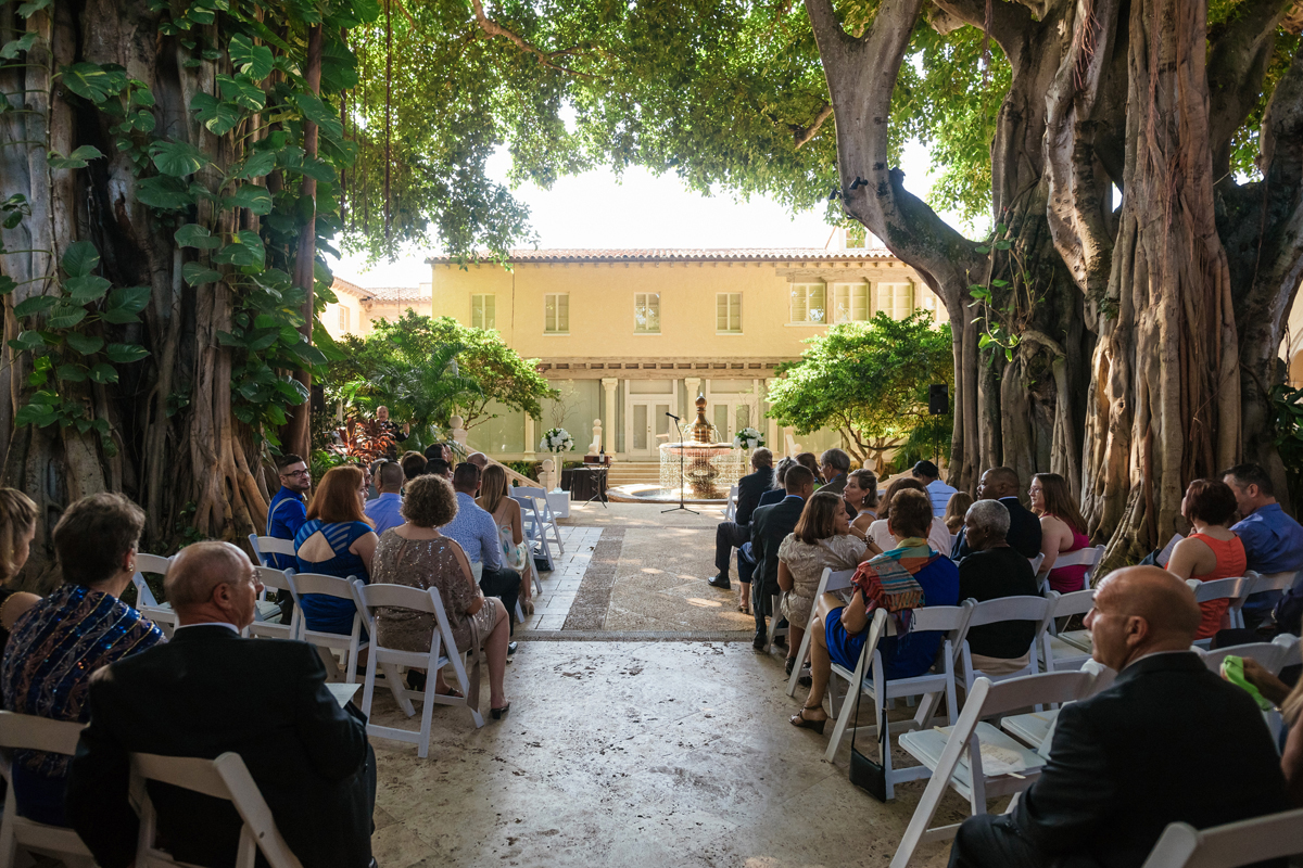 Understated Wedding Ceremony Under Banyan Trees | The Majestic Vision Wedding Planning | The Addison Boca Raton in Boca Raton, FL | www.themajesticvision.com | Robert Madrid Photography