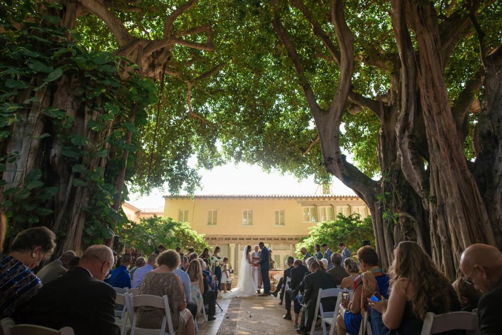 Understated Wedding Ceremony Under Banyan Trees   The Majestic Vision Wedding Planning   The Addison Boca Raton in Boca Raton, FL   www.themajesticvision.com   Robert Madrid Photography