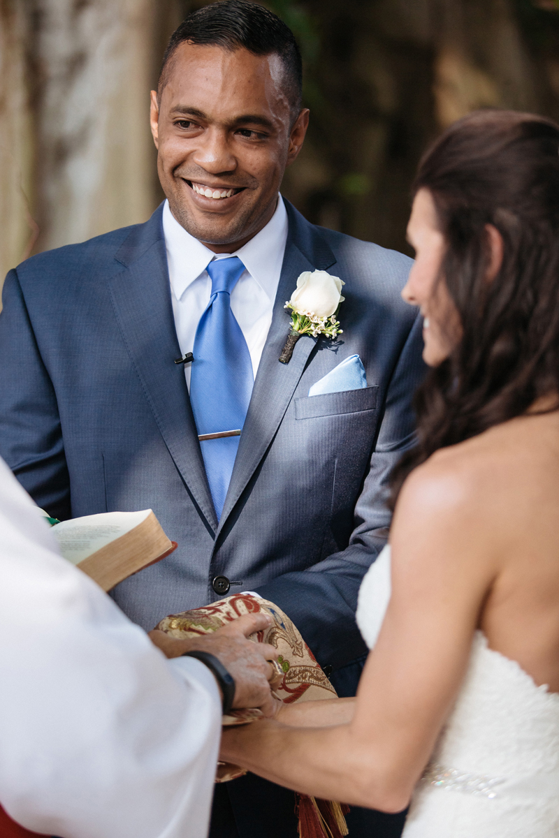 Happy Groom during Wedding Ceremony | The Majestic Vision Wedding Planning | The Addison Boca Raton in Boca Raton, FL | www.themajesticvision.com | Robert Madrid Photography
