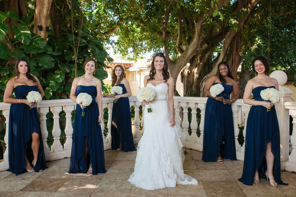 Navy Bridemaids for Wine Themed Wedding | The Majestic Vision Wedding Planning | The Addison Boca Raton in Boca Raton, FL | www.themajesticvision.com | Robert Madrid Photography
