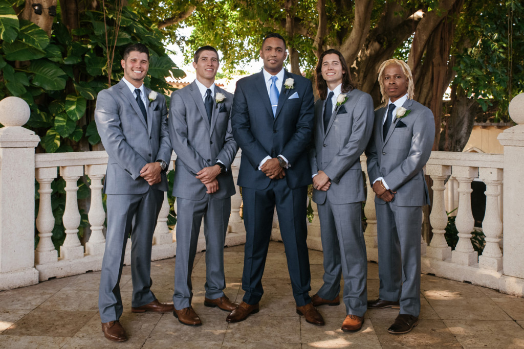 Gray and Brown Groomsmen for Wine Themed Wedding   The Majestic Vision Wedding Planning   The Addison Boca Raton in Boca Raton, FL   www.themajesticvision.com   Robert Madrid Photography