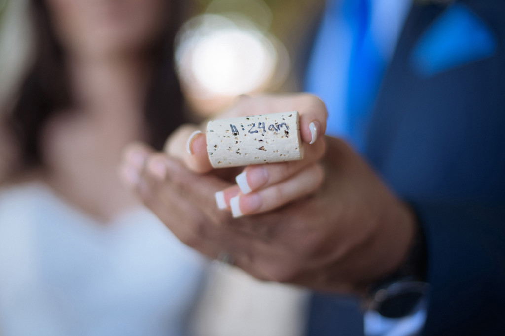 Wine Cork with Time Couple was Married for Wine Themed Wedding | The Majestic Vision Wedding Planning | The Addison Boca Raton in Boca Raton, FL | www.themajesticvision.com | Robert Madrid Photography