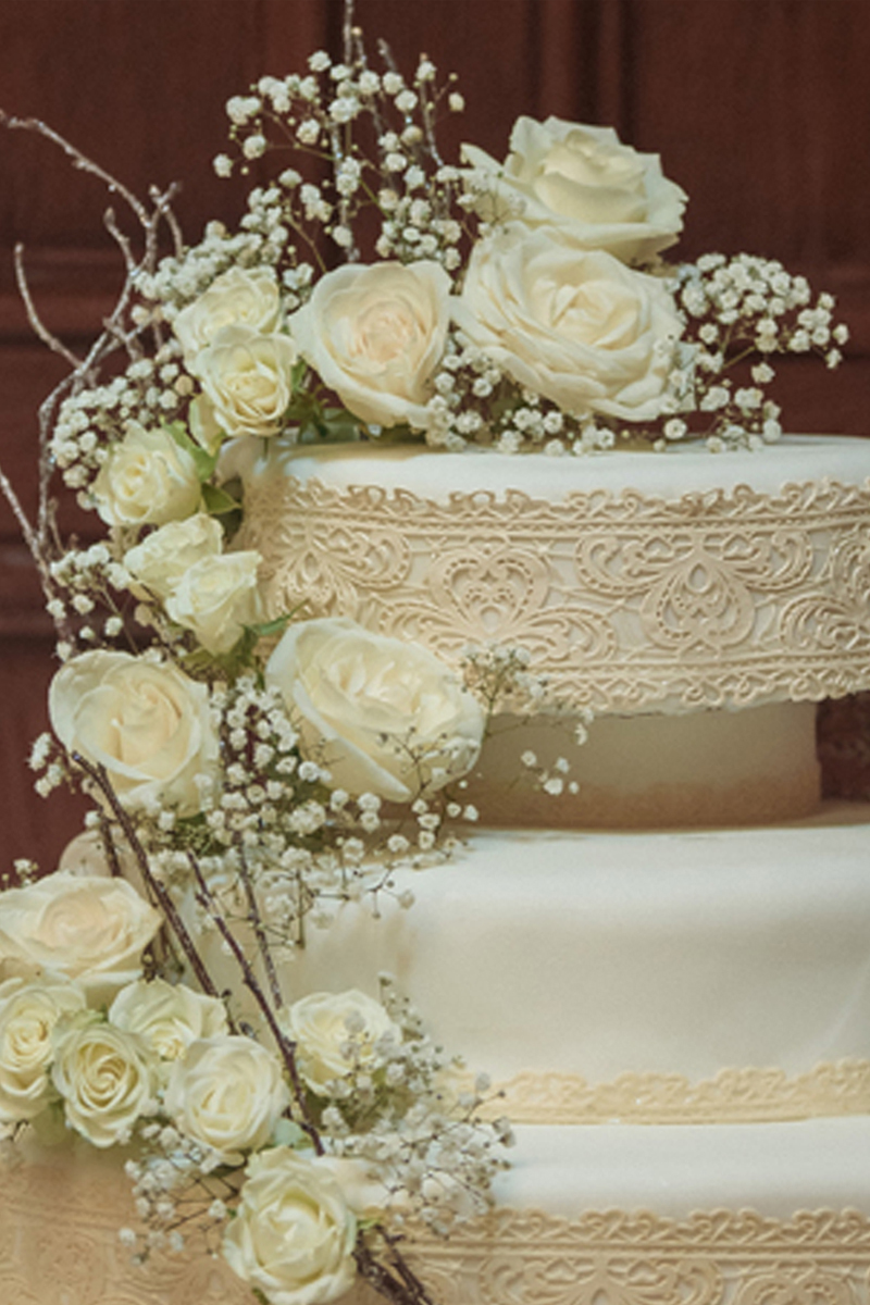Lace and Rose Wedding Cake for Wine Themed Wedding | The Majestic Vision Wedding Planning | The Addison Boca Raton in Boca Raton, FL | www.themajesticvision.com | Robert Madrid Photography
