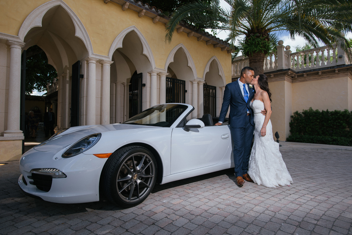 Porsche Getaway Car for Wine Themed Wedding | The Majestic Vision Wedding Planning | The Addison Boca Raton in Boca Raton, FL | www.themajesticvision.com | Robert Madrid Photography