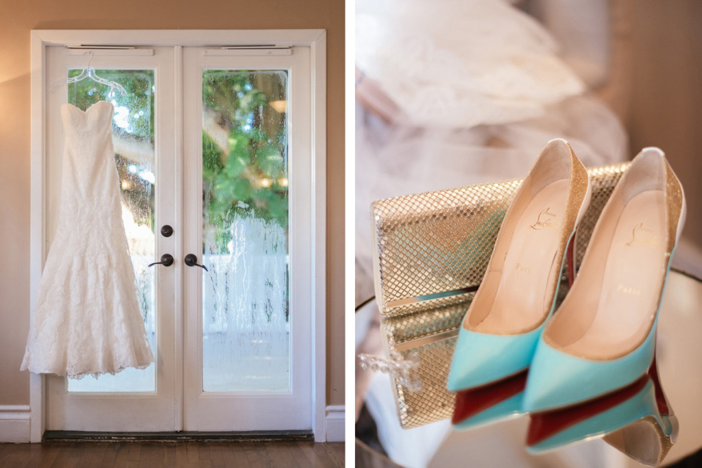 Something Blue Christian Louboutin Shoes for Wine Themed Wedding | The Majestic Vision Wedding Planning | The Addison Boca Raton in Boca Raton, FL | www.themajesticvision.com | Robert Madrid Photography