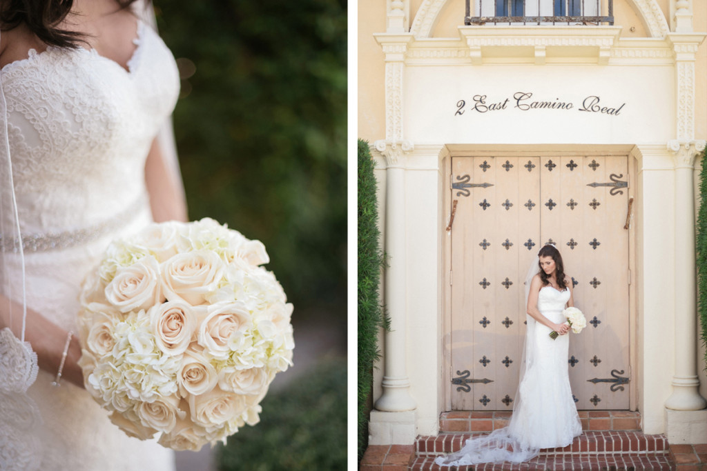 Blush Rose and White Hydrangea Bridal Bouquet for Wine Themed Wedding   The Majestic Vision Wedding Planning   The Addison Boca Raton in Boca Raton, FL   www.themajesticvision.com   Robert Madrid Photography