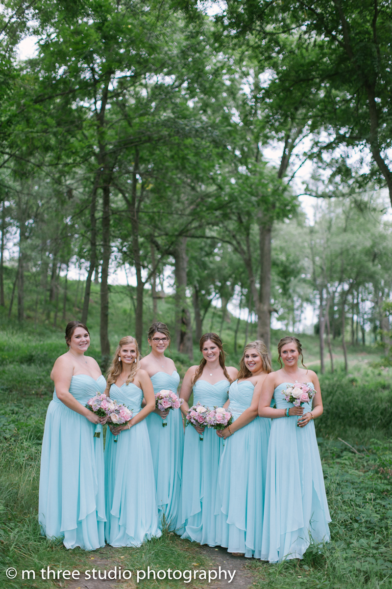 Serenity Blue Bridesmaid Dresses | The Majestic Vision Wedding Planning | Legend of Brandybrook in Milwaukee, WI | www.themajesticvision.com | M Three Studio