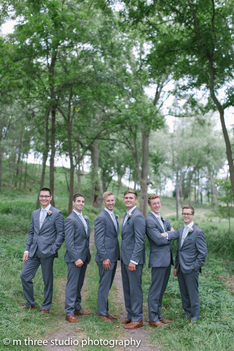Handsome Groomsmen | The Majestic Vision Wedding Planning | Legend of Brandybrook in Milwaukee, WI | www.themajesticvision.com | M Three Studio