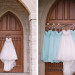 Stunning Bridal Gown and Serenity Blue Bridesmaid Dresses at Legend of Brandybrook in Milwaukee, WI thumbnail
