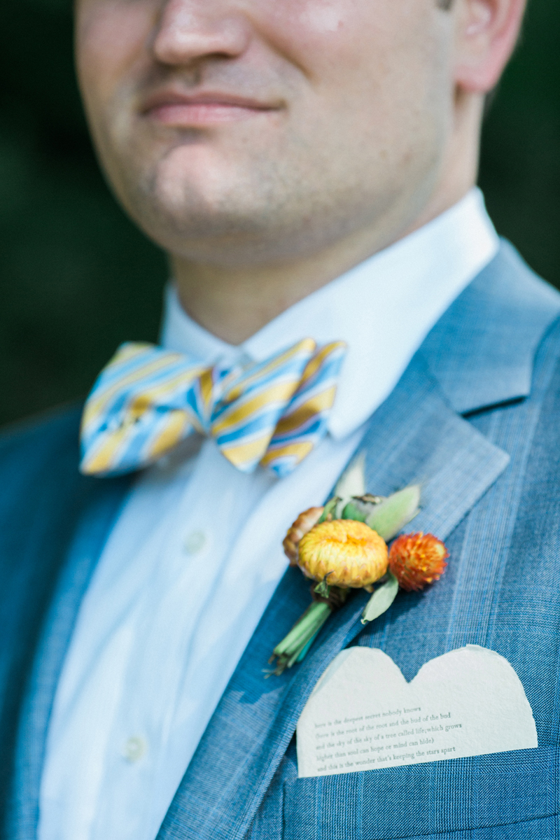 Boutonniere for Romantic Mint and Serenity Blue Farm Wedding | The Majestic Vision Wedding Planning | Private Residence in Milwaukee, WI | www.themajesticvision.com | Elizabeth Haase Photography