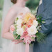 Summer Bouquet at Romantic Mint and Serenity Blue Farm Wedding at Private Residence in Milwaukee, WI thumbnail