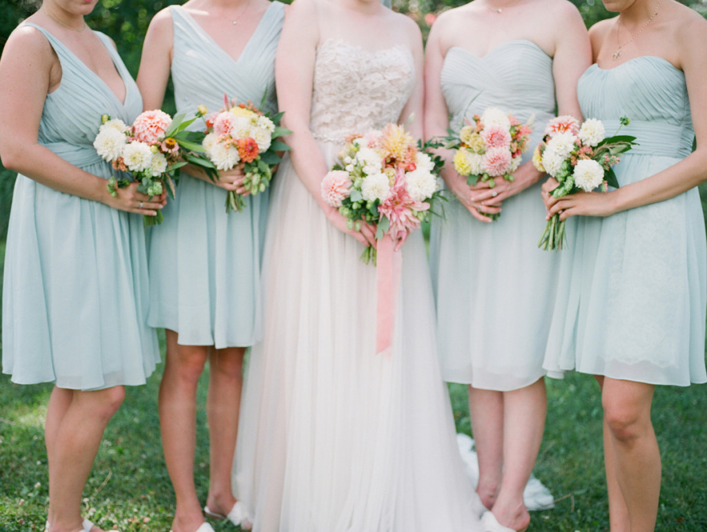 Summer Bouquets at Romantic Mint and Serenity Blue Farm Wedding | The Majestic Vision Wedding Planning | Private Residence in Milwaukee, WI | www.themajesticvision.com | Elizabeth Haase Photography