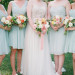 Summer Bouquets at Romantic Mint and Serenity Blue Farm Wedding at Private Residence in Milwaukee, WI thumbnail