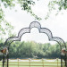 Ceremony Arch at Romantic Mint and Serenity Blue Farm Wedding at Private Residence in Milwaukee, WI thumbnail