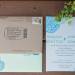 Hand-Stamped Invitation Suite for Romantic Mint and Serenity Blue Farm Wedding at Private Residence in Milwaukee, WI thumbnail