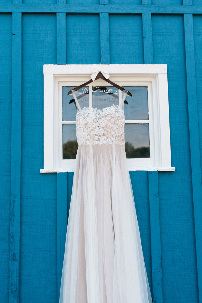 Blush Love Marley Wedding Gown for Romantic Mint and Serenity Blue Farm Wedding | The Majestic Vision Wedding Planning | Private Residence in Milwaukee, WI | www.themajesticvision.com | Elizabeth Haase Photography