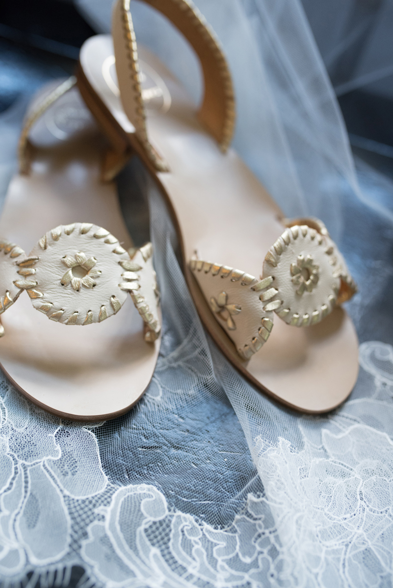Jack Rodgers Shoes for Romantic Mint and Serenity Blue Farm Wedding | The Majestic Vision Wedding Planning | Private Residence in Milwaukee, WI | www.themajesticvision.com | Elizabeth Haase Photography