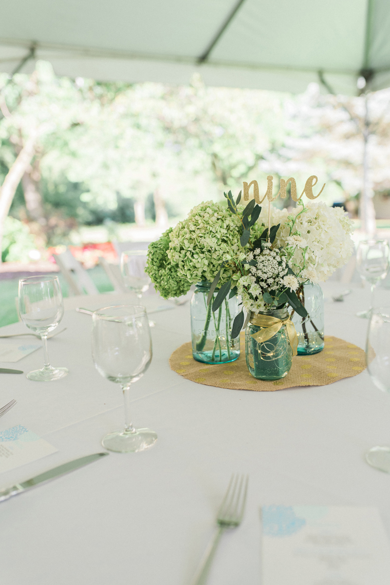 Romantic Mint and Serenity Blue Farm Wedding | The Majestic Vision Wedding Planning | Private Residence in Milwaukee, WI | www.themajesticvision.com | Elizabeth Haase Photography