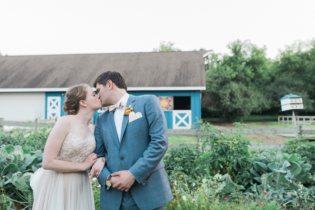 Stunning Couple at Romantic Mint and Serenity Blue Farm Wedding | The Majestic Vision Wedding Planning | Private Residence in Milwaukee, WI | www.themajesticvision.com | Elizabeth Haase Photography