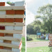 Giant Jenga at Romantic Mint and Serenity Blue Farm Wedding at Private Residence in Milwaukee, WI thumbnail