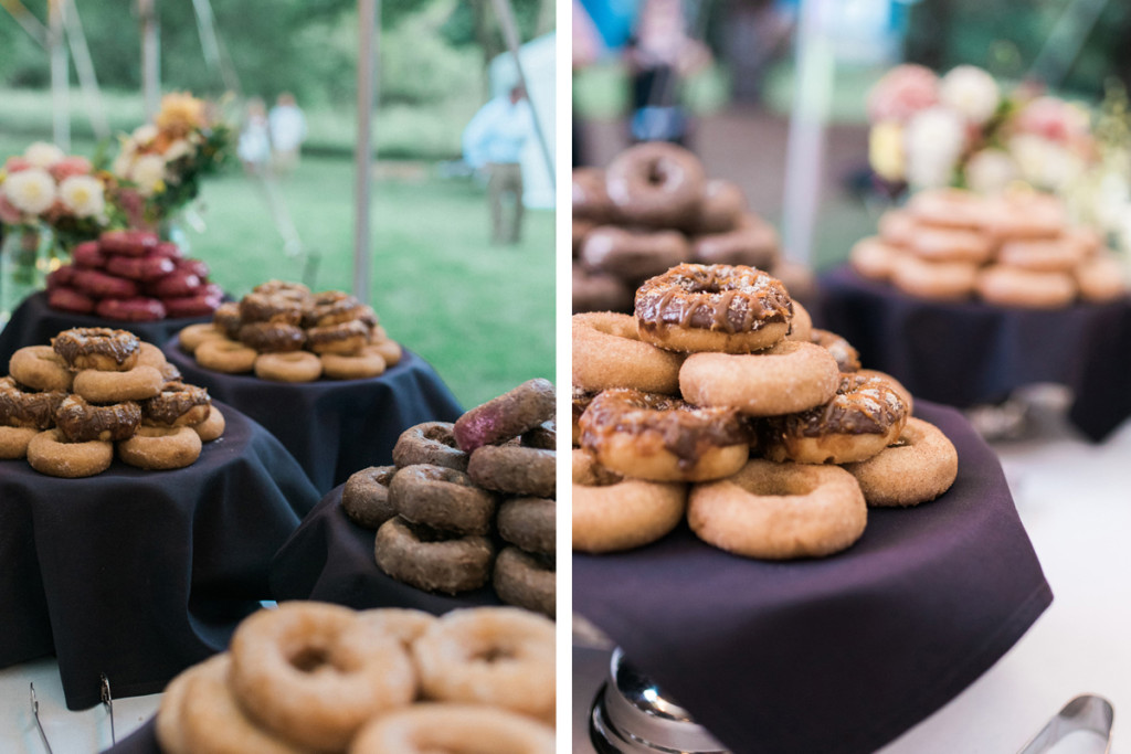 Donut Display at Romantic Mint and Serenity Blue Farm Wedding   The Majestic Vision Wedding Planning   Private Residence in Milwaukee, WI   www.themajesticvision.com   Elizabeth Haase Photography