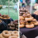 Donut Display at Romantic Mint and Serenity Blue Farm Wedding at Private Residence in Milwaukee, WI thumbnail