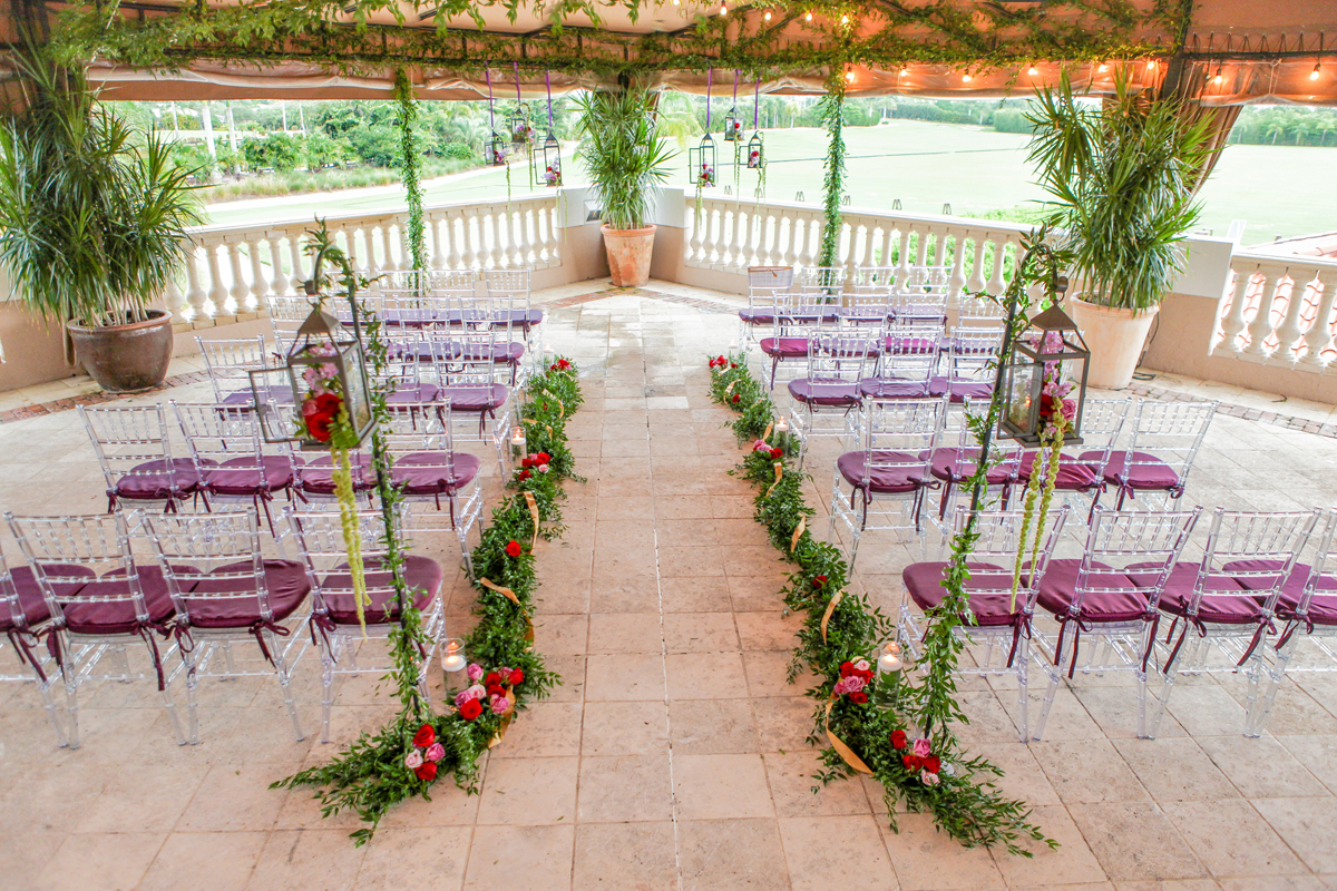 Whimsical Emerald and Amethyst Wedding Ceremony | The Majestic Vision Wedding Planning | The Wanderers Club in Wellington, FL | www.themajesticvision.com | Krystal Zaskey Photography