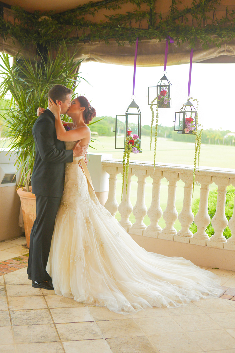 Lovely Couple at Whimsical Emerald and Amethyst Wedding Ceremony | The Majestic Vision Wedding Planning | The Wanderers Club in Wellington, FL | www.themajesticvision.com | Krystal Zaskey Photography