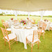Beautiful White Reception Tent for Whimsical Emerald and Amethyst Wedding at The Wanderers Club in Wellington, FL thumbnail
