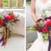 Rose and Poppy Bouquet for Whimsical Emerald and Amethyst Wedding at The Wanderers Club in Wellington, FL thumbnail