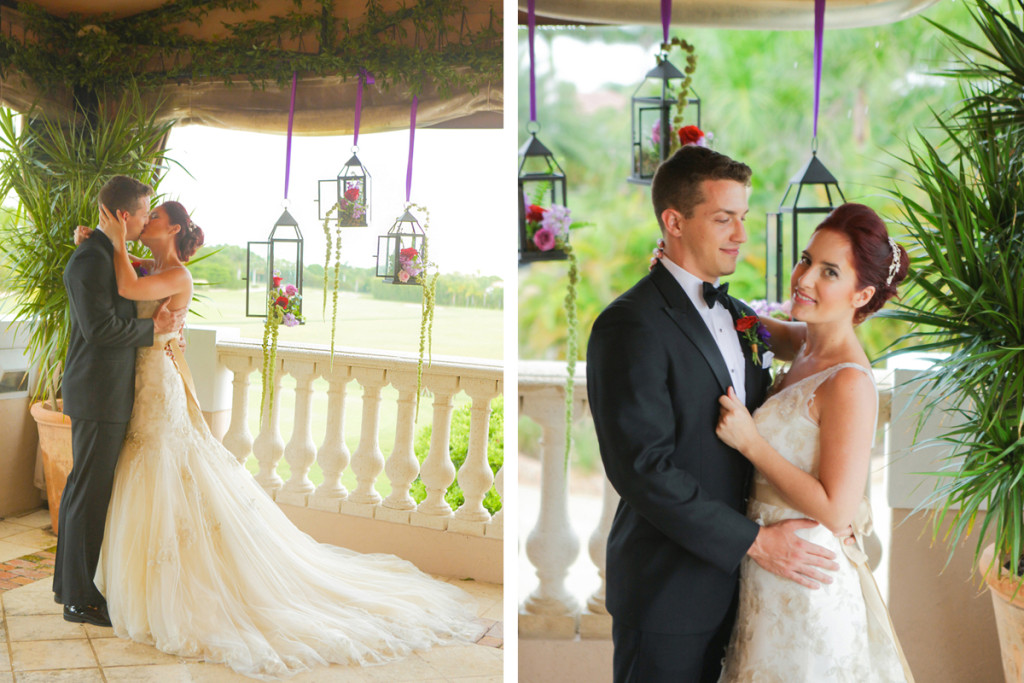 Lovely Couple at Whimsical Emerald and Amethyst Wedding Ceremony| The Majestic Vision Wedding Planning | The Wanderers Club in Wellington, FL | www.themajesticvision.com | Krystal Zaskey Photography