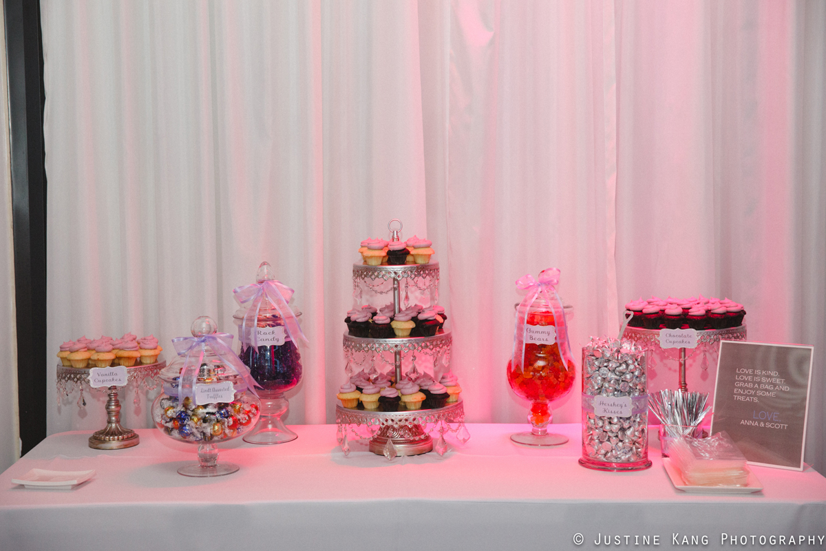 Dessert Display at Modern Black Tie Wedding | The Majestic Vision Palm Beach Wedding Planning | Briza on the Bay in Miami, FL | www.themajesticvision.com | Justine Kang Photography