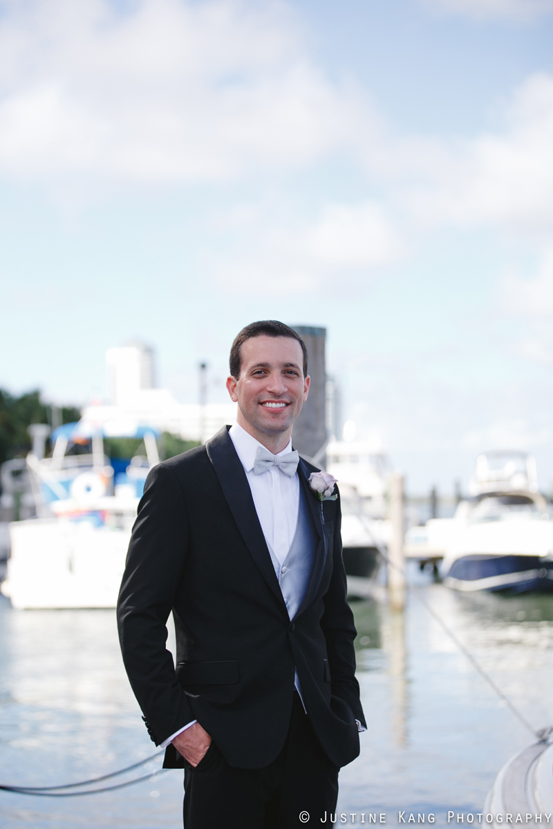 Handsome Groom at Modern Black Tie Wedding | The Majestic Vision Palm Beach Wedding Planning | Briza on the Bay in Miami, FL | www.themajesticvision.com | Justine Kang Photography