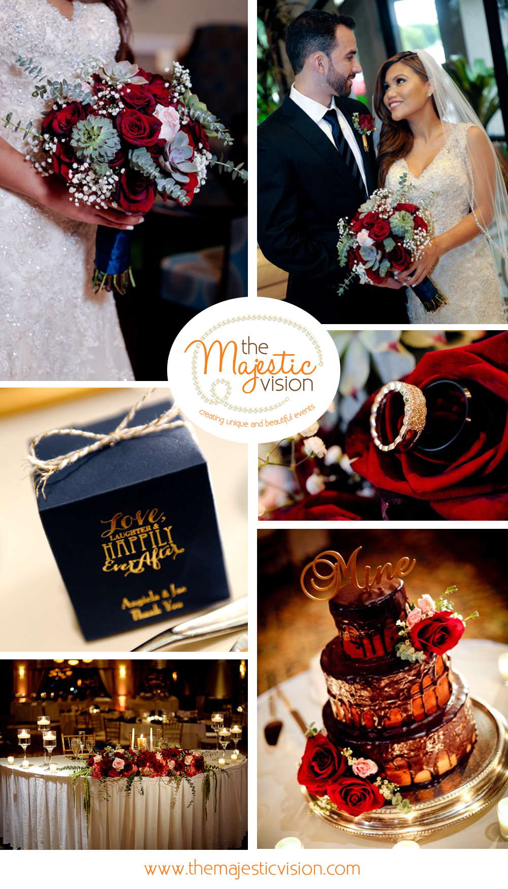 Beautiful Red and Navy Wedding | The Majestic Vision Palm Beach Wedding Planning | Boca Pointe Country Club in Boca Raton, FL | www.themajesticvision.com | GP Photography