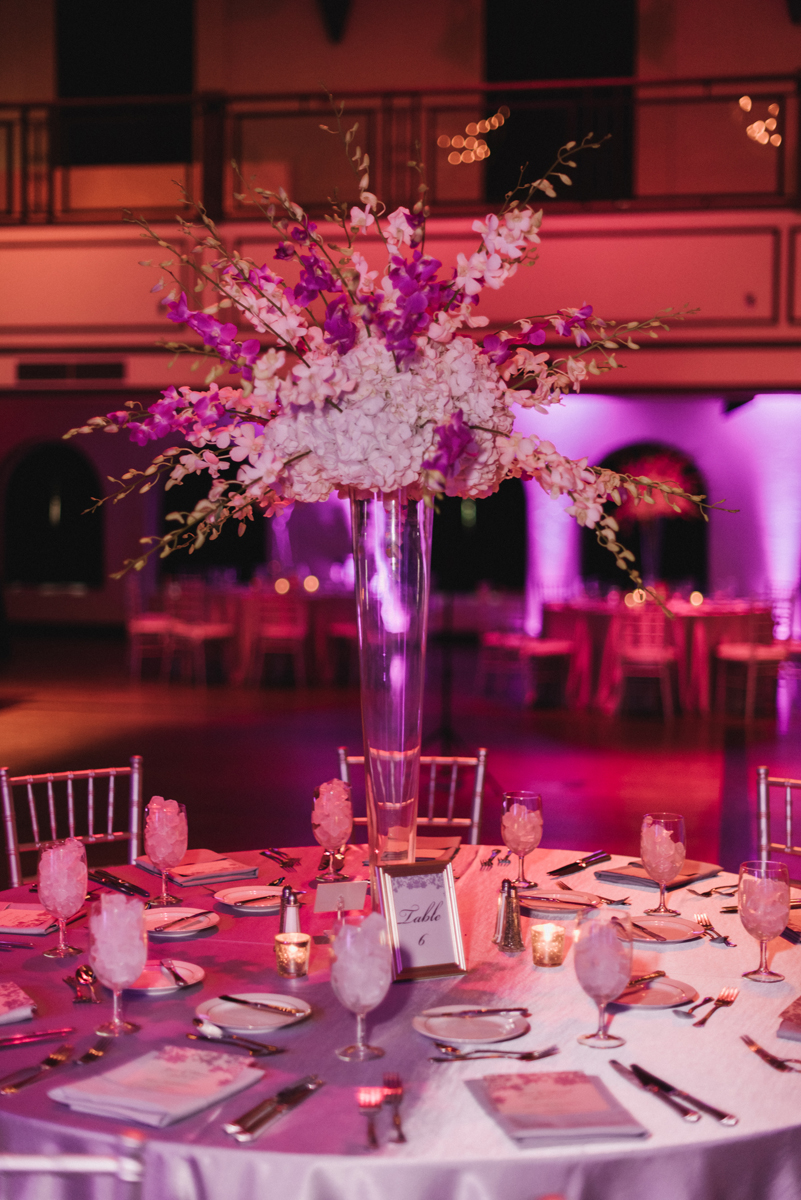 Elegant Purple and Silver Wedding at the Harriet Himmel Theater-Robert Madrid Photography
